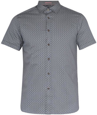 Ted Baker Gooslin Small Print Cotton Shirt