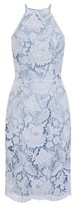 Dorothy Perkins Womens *Chi Chi London Blue Embroidered Bodycon Dress, Blue