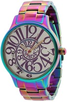 Betsey Johnson BJ00040-11 Analog Rainbow Stainless Steel Case and Bracelet Watch
