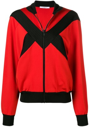 Givenchy contrast panel zipped jacket