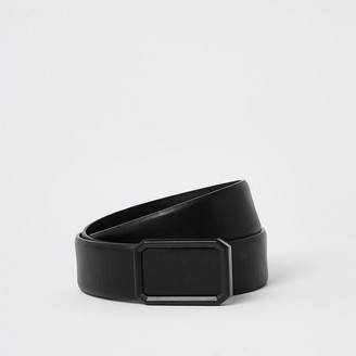 River Island Black plated buckle belt