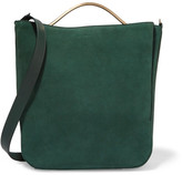 Eddie Borgo Pepper Sac Suede Shoulder Bag - Green
