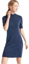 Gap Merino wool mockneck sheath dress