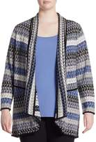 Nic + Zoe, Plus Size Triangle Bliss Cardigan