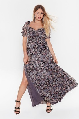 Nasty Gal Womens Best of the Bunch Plus Maxi Dress - Grey - 4