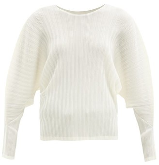 Pleats Please Issey Miyake Dolman-sleeve Technical-pleated Top - Ivory