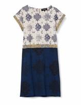 Desigual Womens Short Sleeve Dress with Circular Print