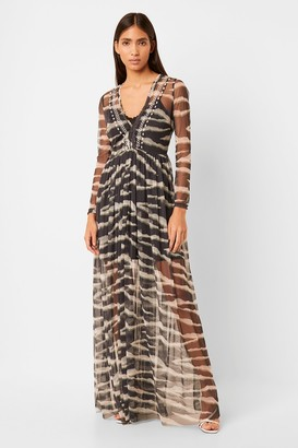 French Connection Akello Embroidered Maxi Dress