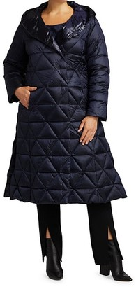 Marina Rinaldi, Plus Size Paniere Longline Quilted Coat