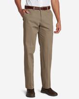 Eddie Bauer Men's Winkle-Free Slim Fit Flat-Front Performance Dress Khaki Pants