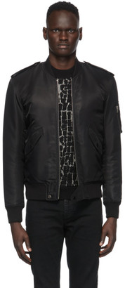 Saint Laurent Black Classic Bomber Jacket