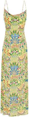 Alice + Olivia Harmony Draped Printed Cady Maxi Dress