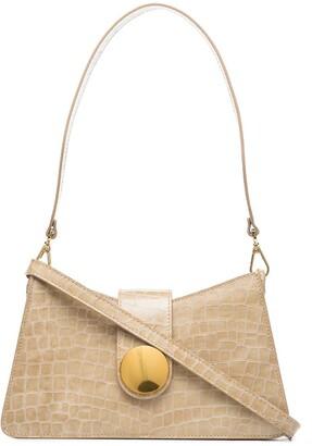 Elleme Baguette crocodile-effect shoulder bag