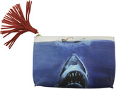 "Pebbled Leather & Suede Clutch ""Shark Attack"""