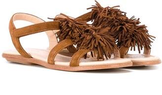 Aquazzura Mini Fringe Detail Sandals