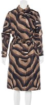 Salvatore Ferragamo Printed Trench Coat