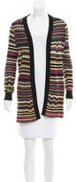 M Missoni Striped Open Front Cardigan