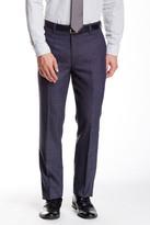 Louis Raphael Saxony Tick Flat Front Wool Pant