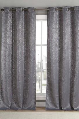 "Duck River Textile Maddie Blackout Grommet Curtains 96"" - Set of 2 - Grey"
