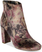 Material Girl Cambrie Block-Heel Booties, Created for Macy's Women's Shoes