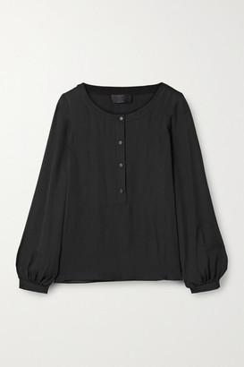 Nili Lotan Kelly Silk-georgette Blouse - Black