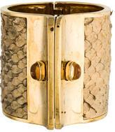 Kara Ross Citrine & Snakeskin Cuff Bracelet
