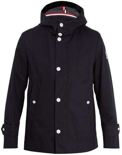 20d211d1e Hooded Cotton Raincoat - Mens - Black