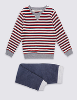 Marks and Spencer 2 Piece Top & Joggers Outfit (3 Months - 5 Years)