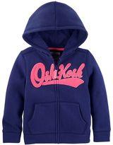 Osh Kosh Girls 4-14 Logo Applique Zip-Up Hoodie