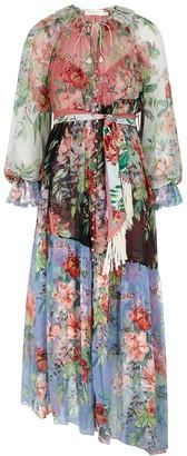 Zimmermann Bellitude Spliced Floral-print Silk Midi Dress