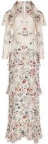 Vilshenko Ivory Silk Floral Annabelle Gown