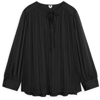 Arket Pleated-Bodice Blouse