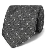 TOM FORD - 8cm Embroidered Herringbone Linen and Silk-Blend Tie