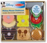 Melissa & Doug Mickey Mouse Clubhouse Wooden Slice & Snack Sandwich Set by