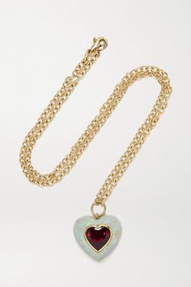 Retrouvaí Lollipop 14-karat Gold, Opal And Rubellite Necklace