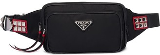 Prada Nylon stud detailed belt bag