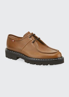 Bally Men's Lug-Sole Leather Derby Shoes