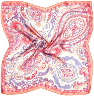 Bees Knees Fashion Multicolour Paisley Print Small Fine Silk Square Scarf