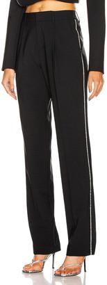 Area Crystal Trim Straight Leg Trouser in Black | FWRD