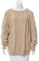 Suno Alpaca & Wool Cable Knit Sweater