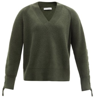 J.W.Anderson Cable-knitted Alpaca And Yak Wool-blend Sweater - Khaki