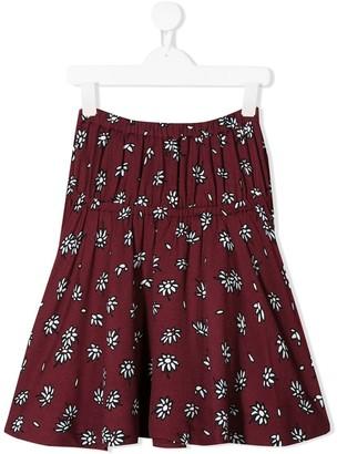 Marni elasticated floral skirt