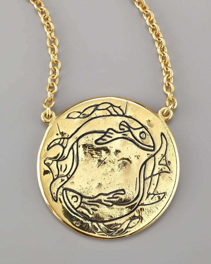 Amy Zerner Astrology Necklace, Pisces
