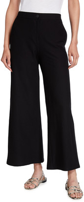 Eileen Fisher Plus Size Stretch Crepe High-Waist Ankle Pants