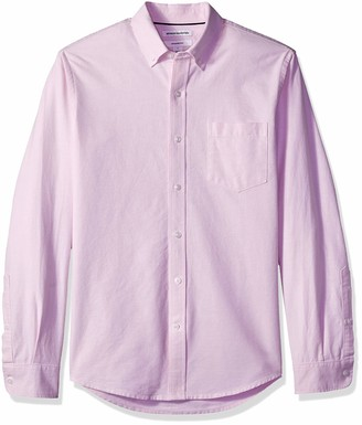 Amazon Essentials Slim-fit Long-sleeve Solid Pocket Oxford Shirt Button