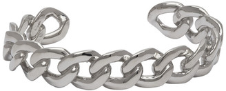 Maison Margiela Silver Polished Chain Bangle