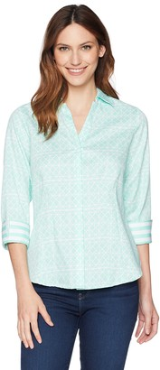 Foxcroft Women's Taylor Geo Tile Shirt