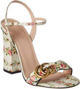 Gucci Double Dd Floral Leather Sandal