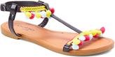 Black & Yellow Pom-Pom Sandal