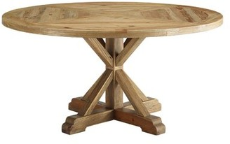 "Industrial Solid Wood Dining Table Millwood Pines Size: 29.5"" H x 59"" L x 59"" W"